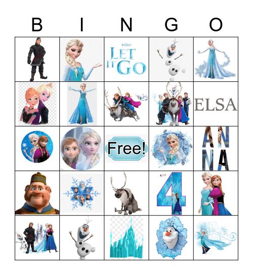Frozen Bingo Card