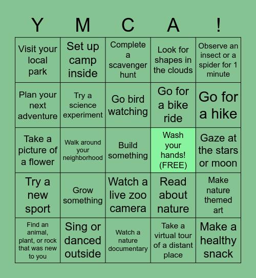 Social Distancing Nature Bingo Card