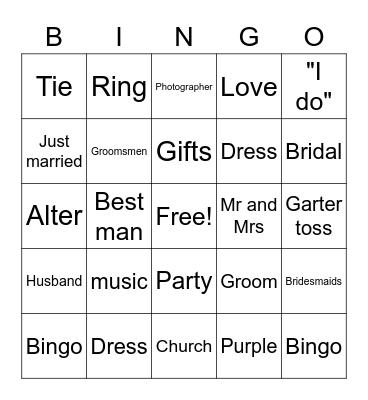 Sadie Stearns Bridal Shower Bingo Card