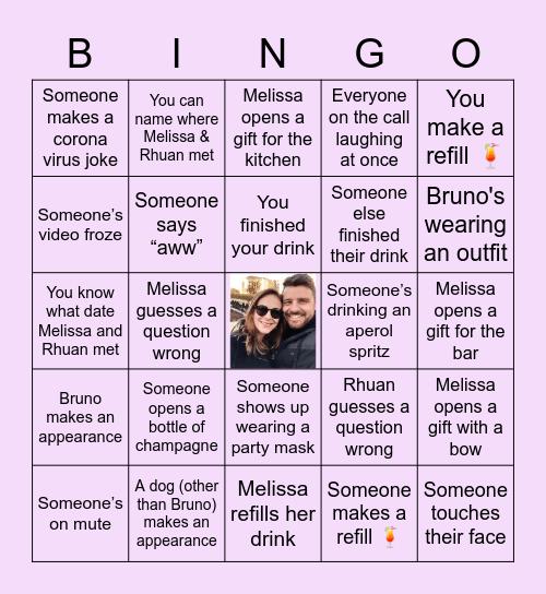 Melissa's Bridal Shower Bingo Card