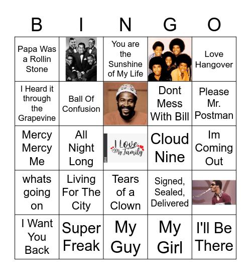 Motown Hits Bingo Card