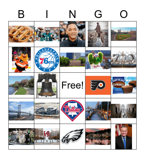Philadelphia Bingo Card