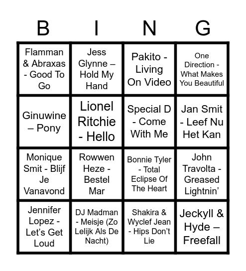 BLAUW SET TOT 600 Bingo Card