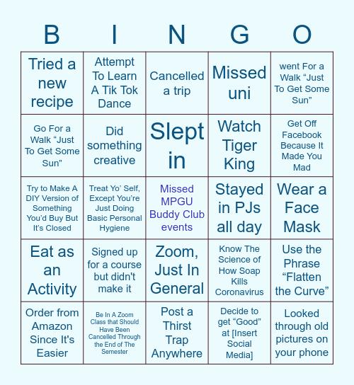 MPGU INTERNATIONAL QUARANTINGO Bingo Card