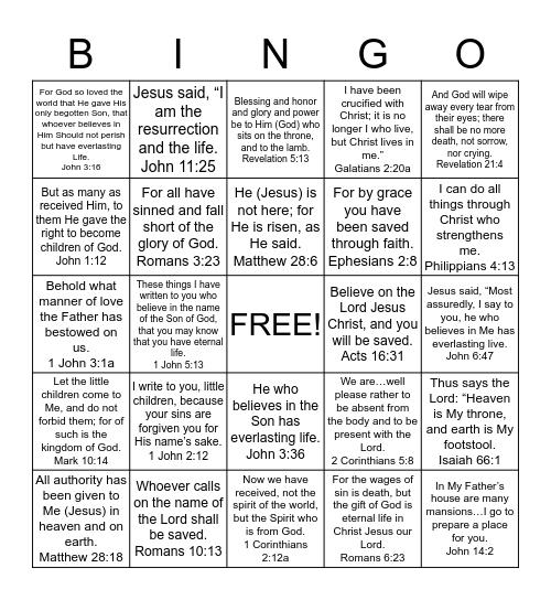 Seekers Book 2 Bingo Card