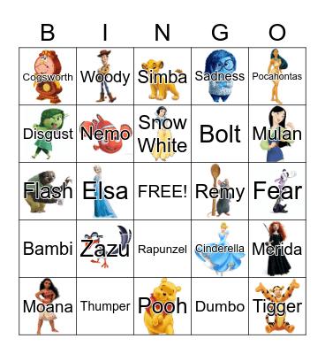 NKHS DISNEY Bingo Card