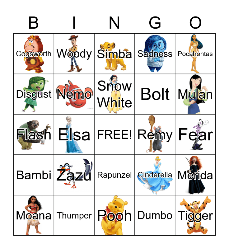 NKHS DISNEY Bingo Card