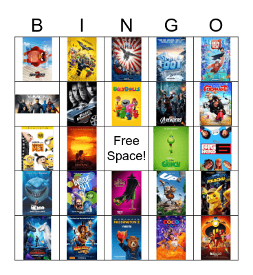 Movies Bingo Card