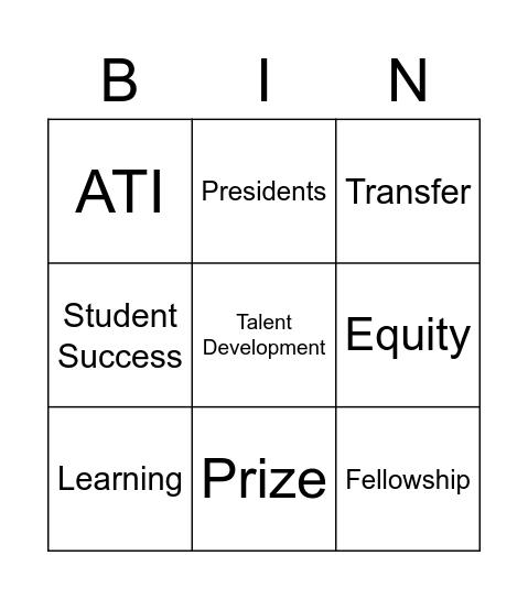 CEP TOC Bingo Card