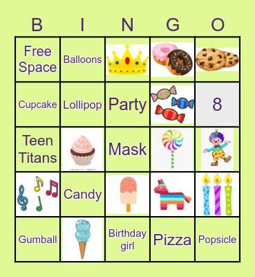 HAPPY BIRTHDAY!!! Bingo Card