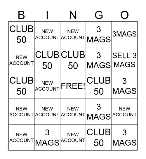 PEEBLES TEAM BINGP Bingo Card