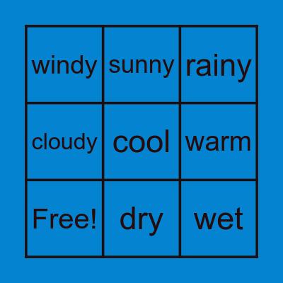 Weather Bingo Card