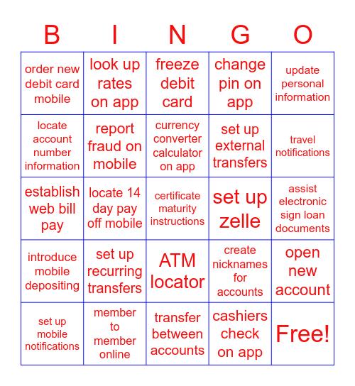 GEM Bingo Card