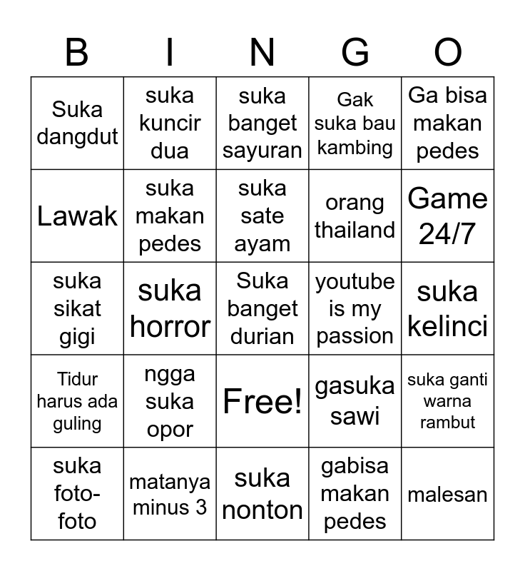 THE PRINCEPS Bingo Card