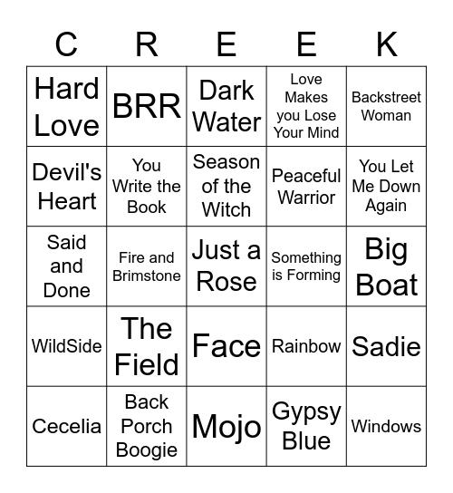 Creeko for Nikki Bingo Card