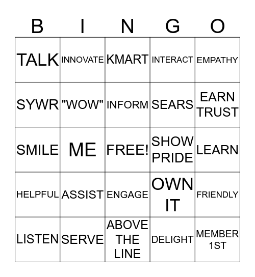 MEMBER EXPERIENCE Bingo Card
