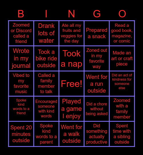Quarantine BINGO! Bingo Card