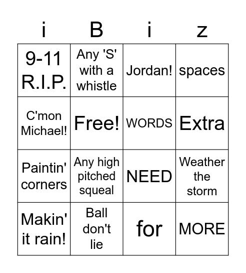 Ping Pong Bingo Card