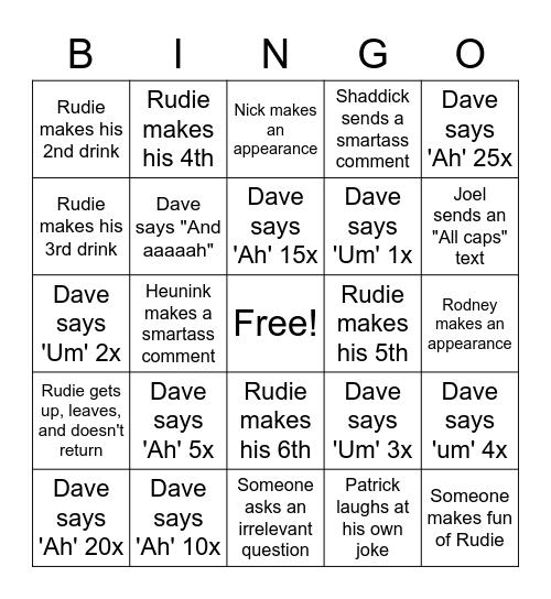 Lightning COVID Bingo Card