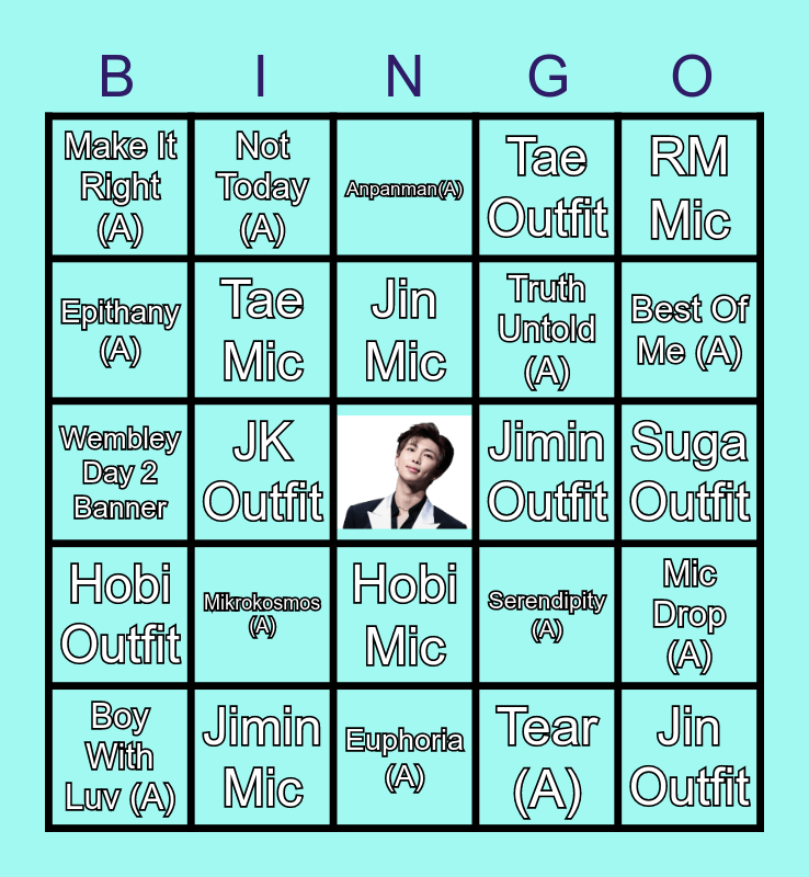 Bangtan Babes Bingo Card