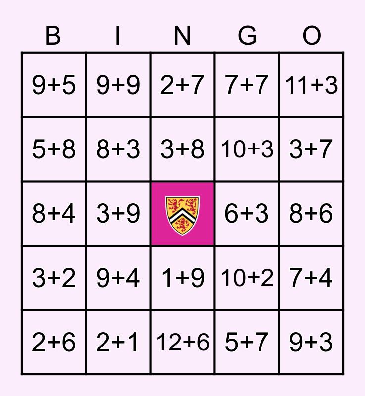 Faculty of Math Bingo Card