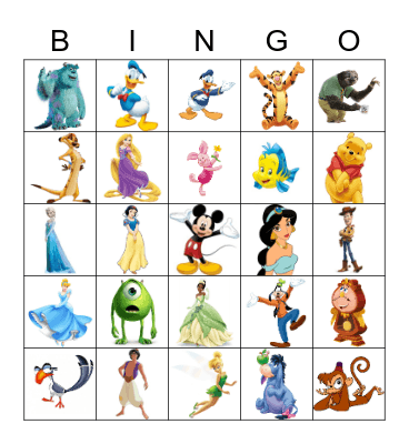 DISNEY Bingo Card