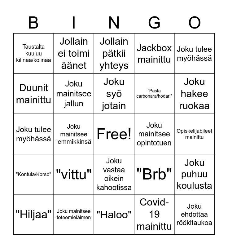 Discord-Bingo! Bingo Card