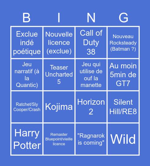 Event PS5 Bingo Card