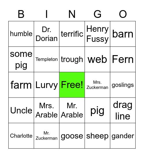 Charlotte's Web Bingo! Bingo Card