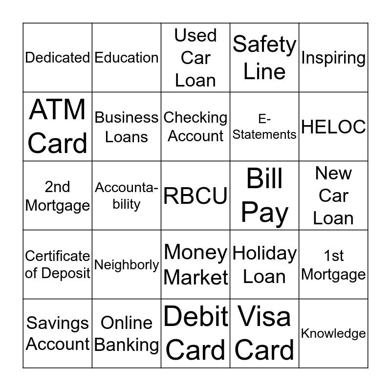 RBCU BINGO Card