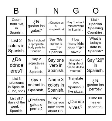 Horas de Oficina de se'ptimo 15 de junio Bingo Card