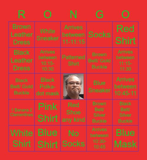 RONGO Bingo Card