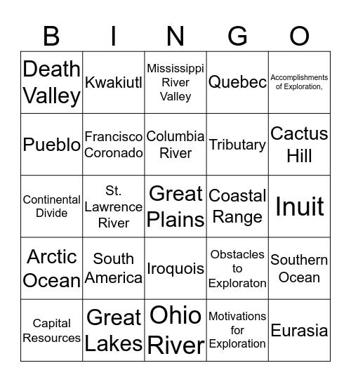 Review 1 Bingo Card