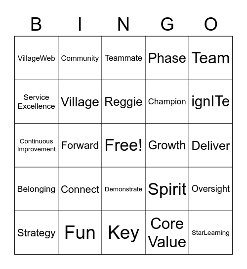 Denver Quarterly Meeting - Q2 2020 Bingo Card