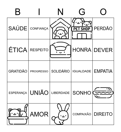 Oh My Bingo! Bingo Card