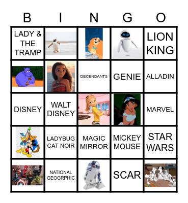 DISNEY+ Bingo Card
