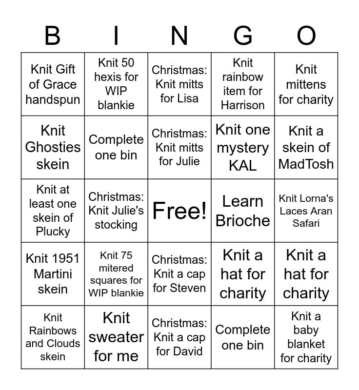 BUN-go #1 Bingo Card