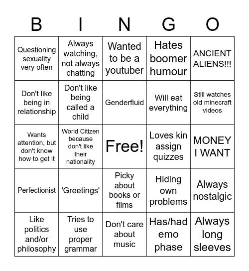 Carol's bingo Card