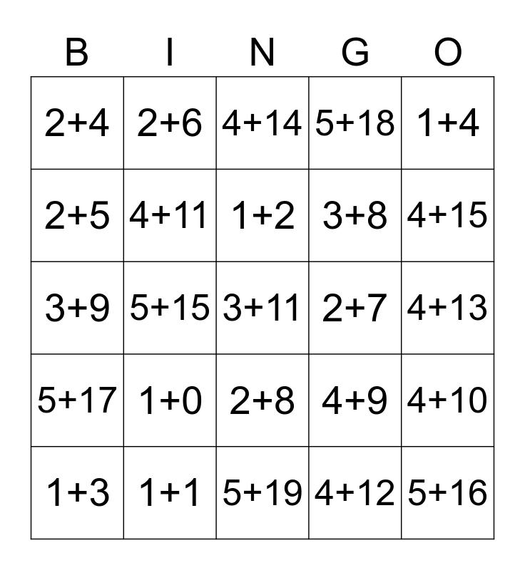 Brain Busting Bingo Card