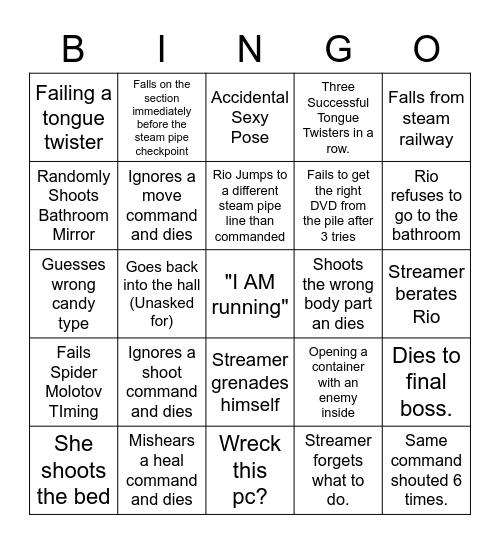 Overwatch, Lifeline Bingo Card