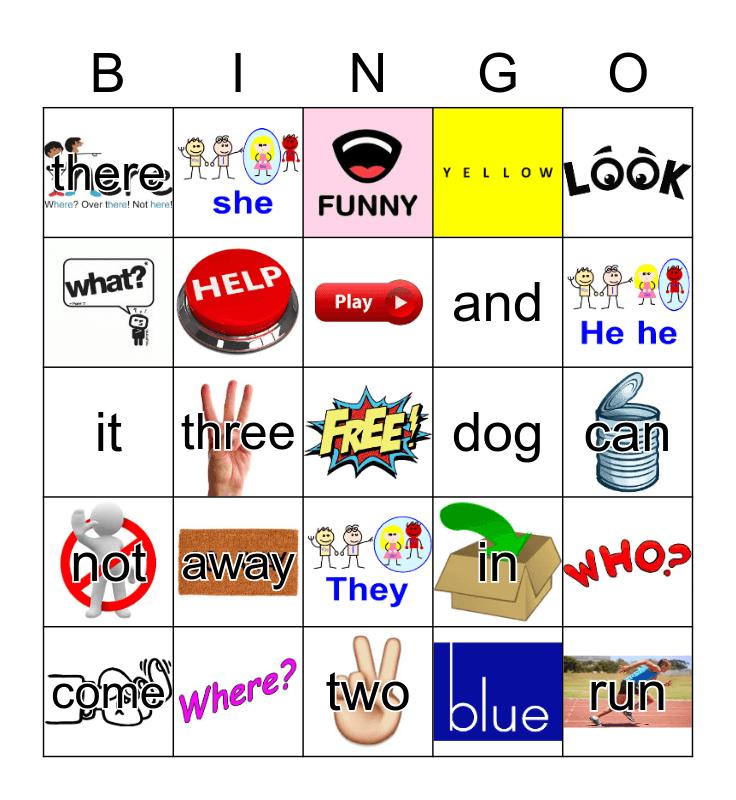 Sight Words Bingo Card