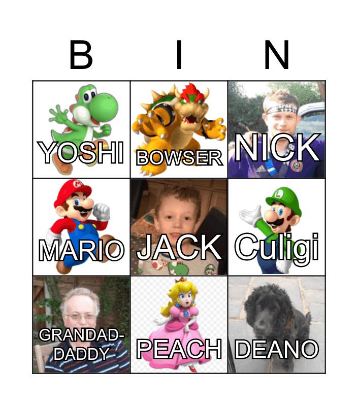 COWIE Bingo Card