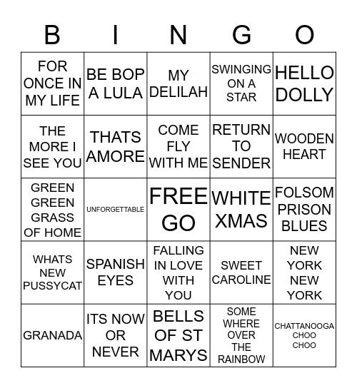 M   U   S   I   C    Bingo Card