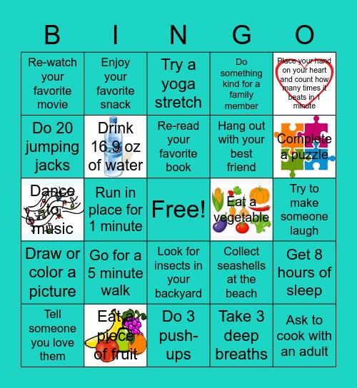 Summer Wellness Bingo Card