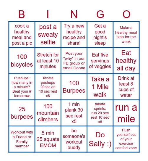 HVBC'S JULY BINGO CHALLENGE Bingo Card