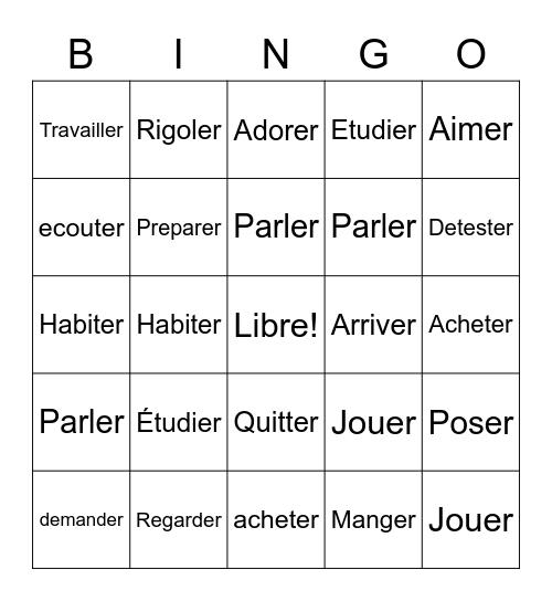 French bingo bongo  Bingo Card