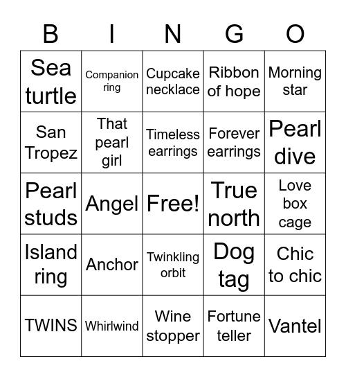 Pearls Bingo Card