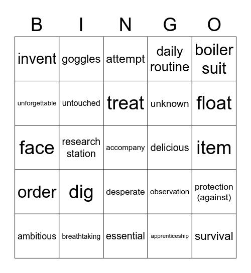 Laboratory Bingo Card