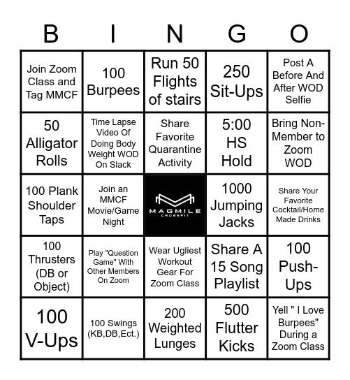 MMCF WOD Bingo Card