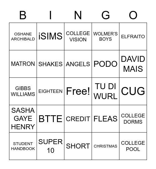GCFC 2017 Retreat Bingo Card